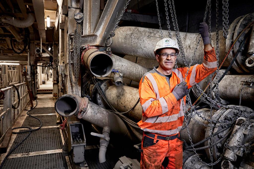 Worker Tunnel Drilling Machine