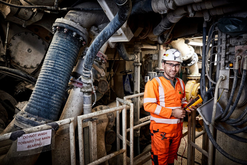 Worker in Tunnel Drilling Machine 2